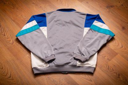 80s Wilson Color Block Track Jacket, S/M, Vintage Zip Shirt, Gym Workout, Fitness