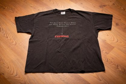 90s Compaq Work Within the System T-Shirt, XL, Vintage Tee, PC Computer Tech